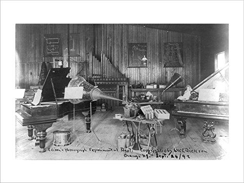 Edison's Phonograph, Experimental Dept, Orange, N.J. Laminated Art Print, 24 x 18 -