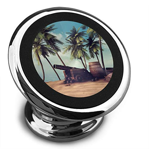 Universal Magnetic Phone Car Mounts Magnet Holder Cannon and Barrels On Tropical Beach Magnetic Mount for Phone 360° Rotation ()