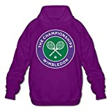 Tenis Nike Best Deals - Pourelle Men's The Championships Wimbledon Tenis Hooded Pullover Cotton Sweatshirt