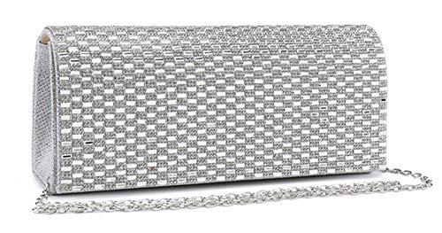 London Bag Encrusted Mabel Evening Wedding Purse Womens Clutch White Diamante Mirror 1 and Design TndZWzwBqd