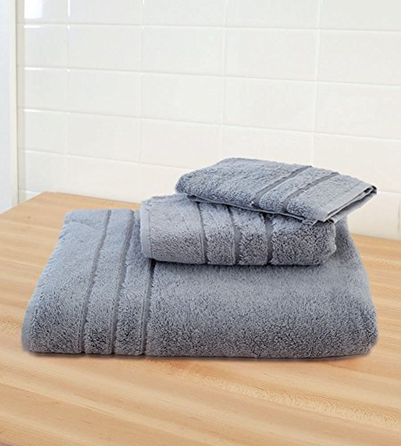 Cariloha Crazy Soft Bamboo 3 Piece Towel Set - Odor Resistant - Moisture Wicking (Blue Lagoon)