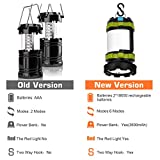 Wsky Rechargeable Camping Lantern Flashlights, 6