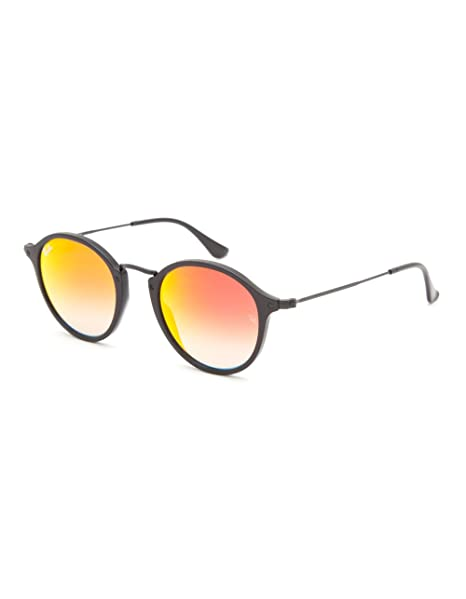 Amazon.com: Ray-Ban Redondo Icon anteojos de sol, Negro ...