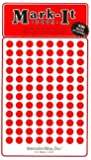 """Medium 1/4"""" removable Mark-it brand dots for maps, reports or projects - red"""