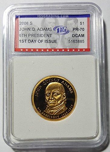 John Quincy Adams Dollar Coin (2008 S John Quincy Adams Proof Golden Presidential Dollar Choice Proof)