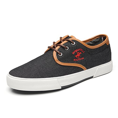 1793c082ad887 Beverly Hills Polo Club Men s Original Canvas Casual Skate Shoes Classic  Low Top Lace Up Fashion
