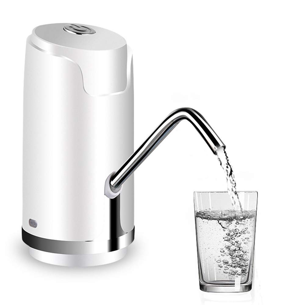 Automatic Electric Portable Water Pump Dispenser Gallon Drinking Bottle Switch Built-in Rechargeable Battery,White by Sophia