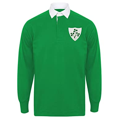 6a4b98f9a46 MEN'S vintage embroidered Irish crest LONG SLEEVE Ireland rugby SHIRT with  FREE PERSONALISATION from Print Me