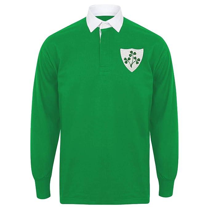 Print Me A Shirt Camiseta de Rugby para Hombre, diseño Retro del ...