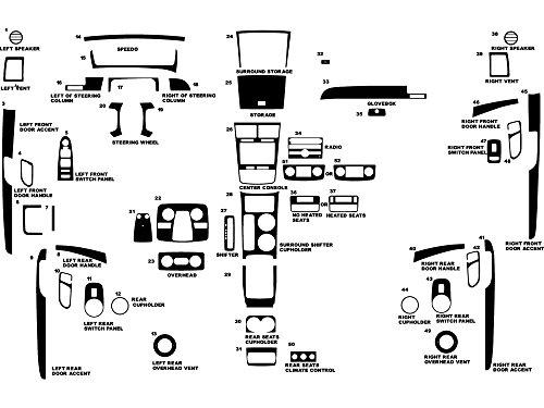 - Rdash Dash Kit Decal Trim for Saturn Outlook 2007-2009 - Matte (Silver)
