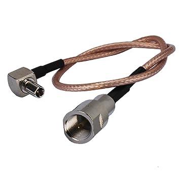 Adaptador de conector RF macho en ángulo recto a TS9 FME macho ...