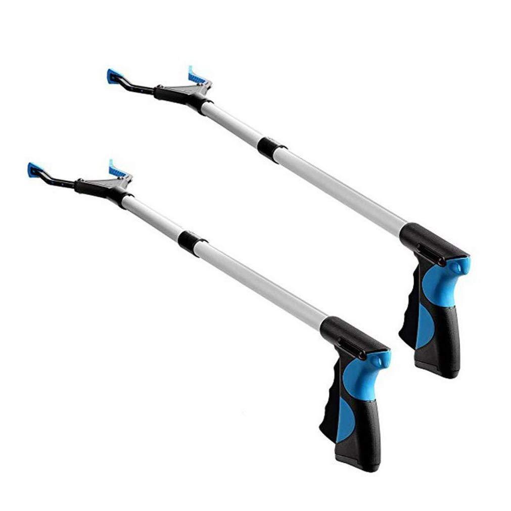 Pince de pré hension pliable Scoolr - Lot de 2 - Outil de pré hension ergonomique et lé ger - Pour ramassage de dé chets - 81.3 cm