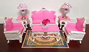 Gloria Barbie Sized Deluxe Living Room Furniture & Accessories Playset