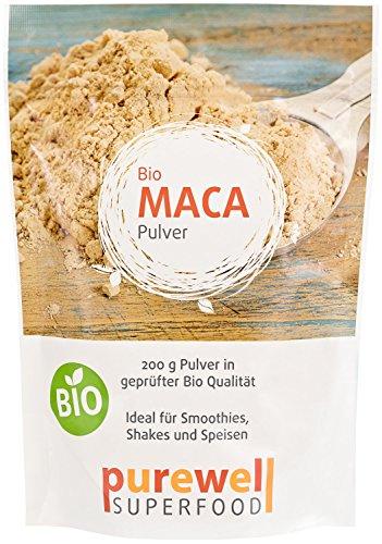 MACA Pulver - Bio Superfood - Für mehr Energie & Vitalität - Für Smoothies, Shakes, Speisen (200g BIO Pulver)
