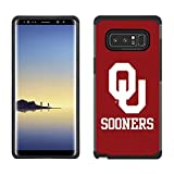 Prime Brands Group Textured Team Color Cell Phone Case for Samsung Galaxy Note 8 - NCAA Licensed The University of Oklahoma Sooners