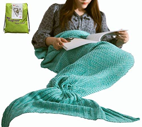 Hughapy Christmas Soft Mermaid Tail Blanket Handmade Living