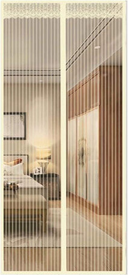 QDR Mosquitera Puerta Grande Terraza Exterior Corredera Cortina Enrollable, Ventilación, Fácil De Instalar, Automático, Anti-Mosquito, para Sala/Estar/Balcón,85x195cm(33x77inch): Amazon.es: Hogar