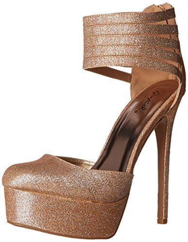 Qupid Women's Ravish-96 Dress Pump, Champagne, 10 M US (Qupid Pumps)