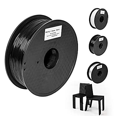 Pxmalion PETG 3D Printers Filament, 1.75mm, Black, Accuracy +/- 0.05mm, Net Weight 1KG(2.2LB), Compatible with Most 3D Printers