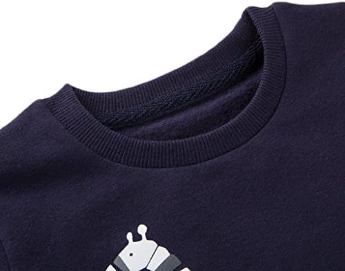 Minizone Baby Boys Kids Sweatshirts Long Sleeve T-Shirt Giraffe Crewneck Pullover