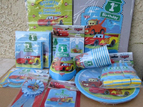 70pc Disney Cars 1st Birthday Party Value Pack