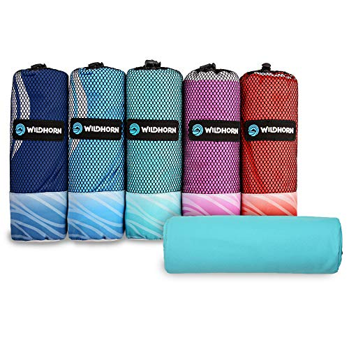 Akumal Microfiber Beach Towel. Quick Dry Travel Towel, Ultra Compact, Extra Absorbent and XL Size (78 in. x35 in.). Great for Beach Trips, Pool, and Camping. Travels Better Than Cotton Beach Towels.]()