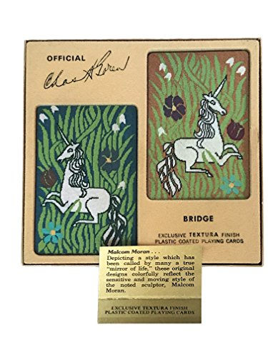 - Charles Goren Classic Malcom Moran Unicorn Tapestry Bridge Cards Set of 2 Decks in Gift Box