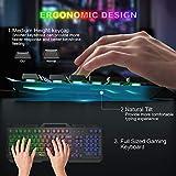 Gaming Keyboard, WisFox Colorful Rainbow LED