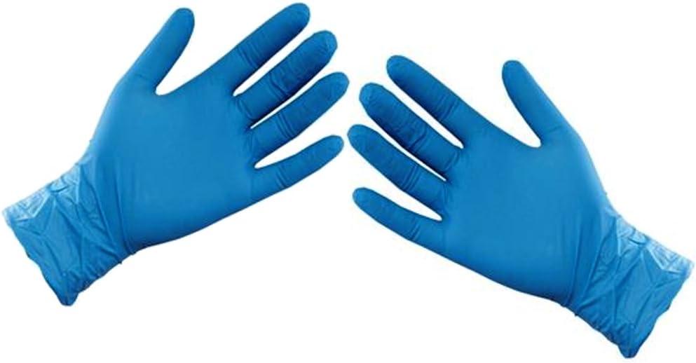 ASC - Guantes desechables de nitrilo, tamaño XL, sin polvo ni látex, 100 guantes (50 pares): Amazon.es: Bricolaje y herramientas