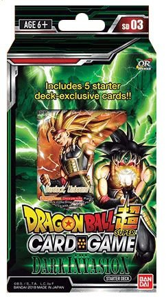 Super Action Card - Dragon Ball Z Super The Dark Invasion Starter Deck Series 3 Cross Worlds