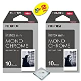Fujifilm Instax Mini 8 & mini 9 Instant Film 2-PACK (20 Sheets) Value set For Fujifilm Instax Mini 8 & mini 9 Cameras - Monochrome …