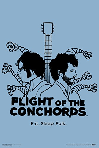 Flight of The Conchords Eat Sleep Folk HBO TV Cool Wall Decor Art Print Poster 12x18 (Flight Of The Conchords Poster)