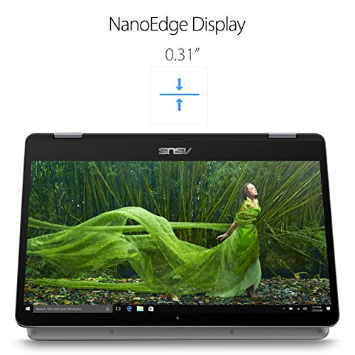 "ASUS VivoBook Flip 14 TP401CA-DHM4T 14"" Thin and Lightweight 2-in-1 FHD Touchscreen Laptop, Intel Core m3-7Y30 2.6GHz Processor, 4GB RAM, 64GB Storage,Windows 10 Home, fingerprint security, Stylus Pen"