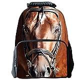 "Tricandide Children School Backpack Animal 3D print Laptop Daypacks 16"" HORSE"