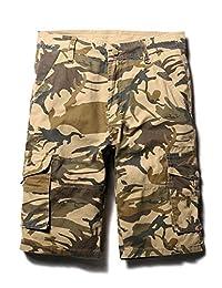 Men's Outdoor Camo Cargo Shorts Military-Style