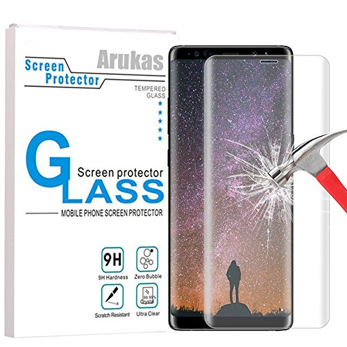 Cheap Screen Protectors Galaxy Note 8 Screen Protector, Arukas 3D Curved Edge Ultra Clear 9H..