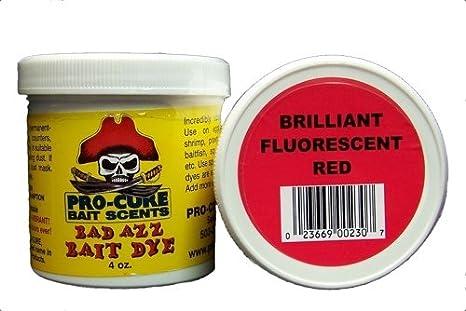 Pro-Cure Bad Azz Powder Dye, 4-Ounce, Brilliant Red Fluorescent