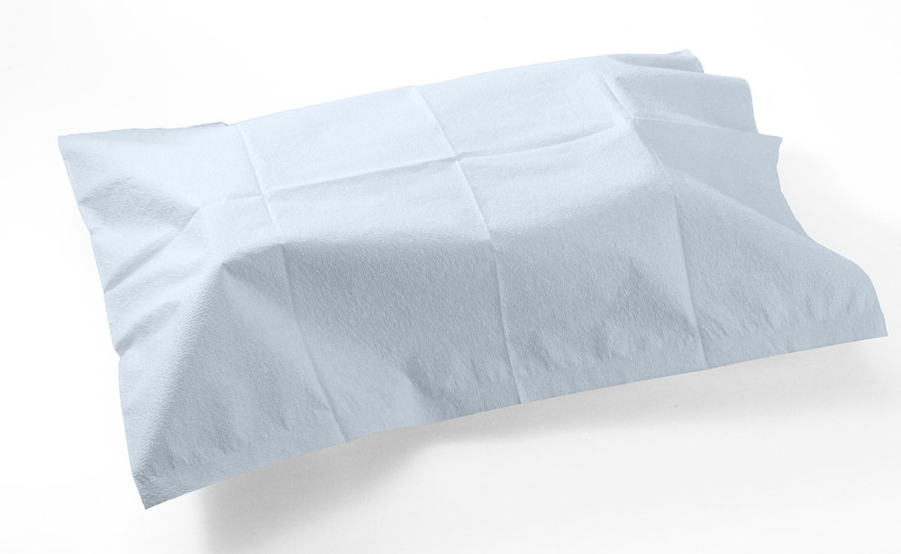 TIDI Products 919363  Everyday Pillowcases, Tissue/Poly, 21'' x 30'' Size, Blue (Pack of 100)