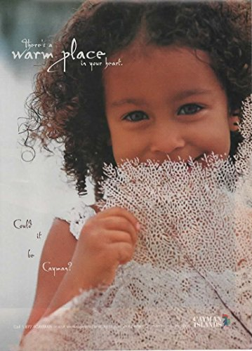 Magazine Print Ad: 2002 Cayman Islands Travel Vacation, Native Caymanian girl, There's a Warm Place in your Heart. Could it be Cayman?'