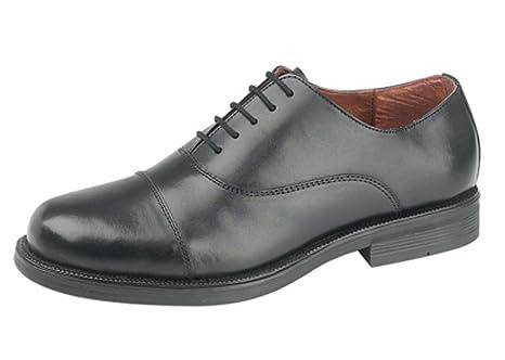 Scimitar - Scarpe da uomo stringate, in pelle, colore nero, Nero (nero), 44 (10 UK)