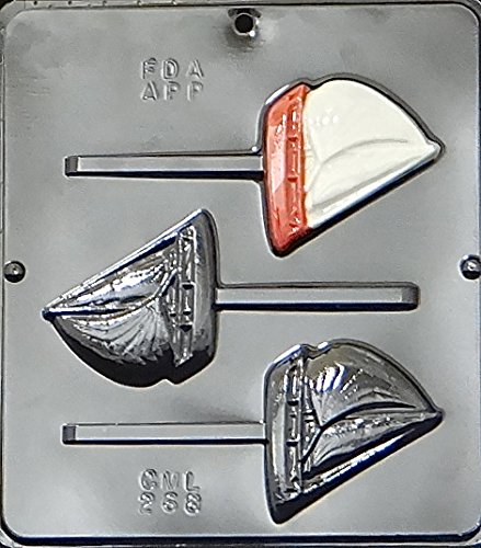 Sailboat Lollipop Chocolate Candy Mold