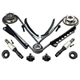yjracing Timing Chain Kit Cam Phaser + VVT Valves Fits for 04-08 Ford F150 F250 Lincoln 5.4L Triton 3-Valve