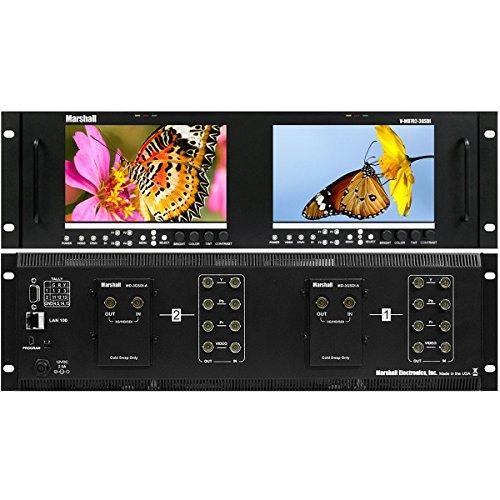 - Marshall Electronics V-MD702-3GSDI | Dual 7inch LCD 3 Rack Units Mount Monitor 3G-SDI Inputs