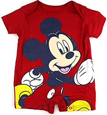 Mickey Mouse Infantil Red mameluco (3 / 6M) Tamaño: 3.6 ...