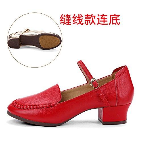 1 Rouge Wuyulunbi@ Avec chaussures Chaussures fond mou Chaussures de Danse Danse Quarante