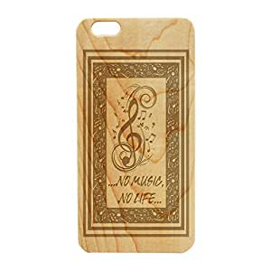 "Wood Engraved, Phone Case Music Notes ""No music, no"" for iPhone 5c (Maple) by tigerbrace"