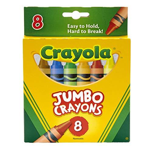 Crayola BIN389BN Jumbo Crayons, 8 Per Box, 6 Boxes