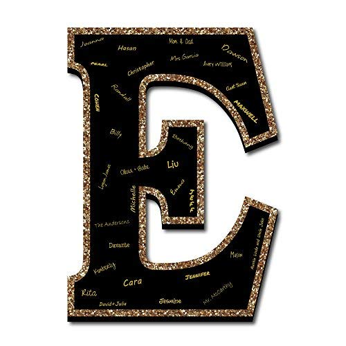 """Big Dot of Happiness Signature Letter E - Guest Book Sign Letter - 21"""" Foam Board Party Guestbook Alternative 
