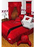 NCAA Wisconsin Badgers- 5pc BED IN A BAG - Queen Bedding Set