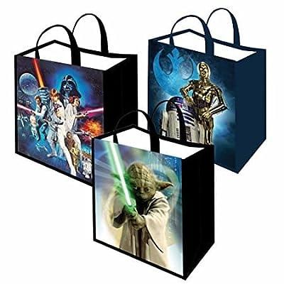 Star Wars Tote Bag Bundle Reusable Grocery Gift Wrap The Force Awakens